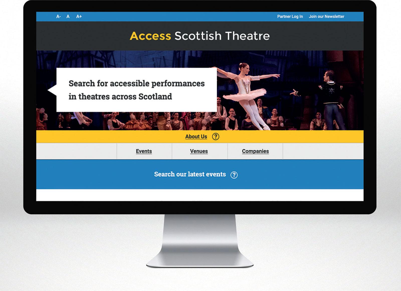 Access Scottish Theatre accessible listings portal, 2016